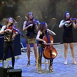 String Quartet Combined with a Disc Jockey