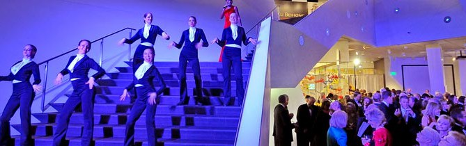 Singing and Dancing on the Stairs