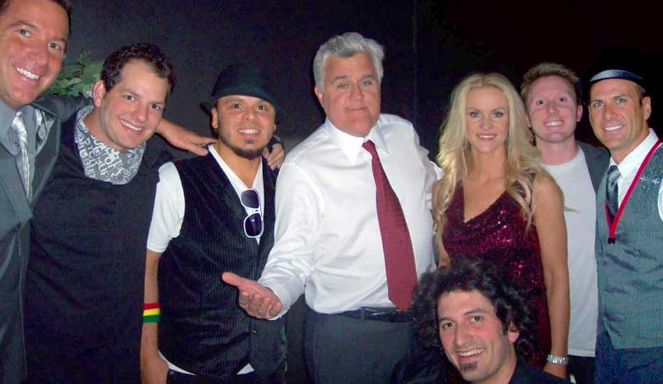 Party Crashers Perform for Jay Leno and other Celebrities