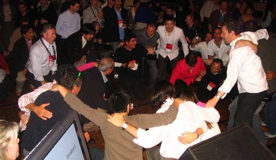 Rock Star Karaoke Team Dancing