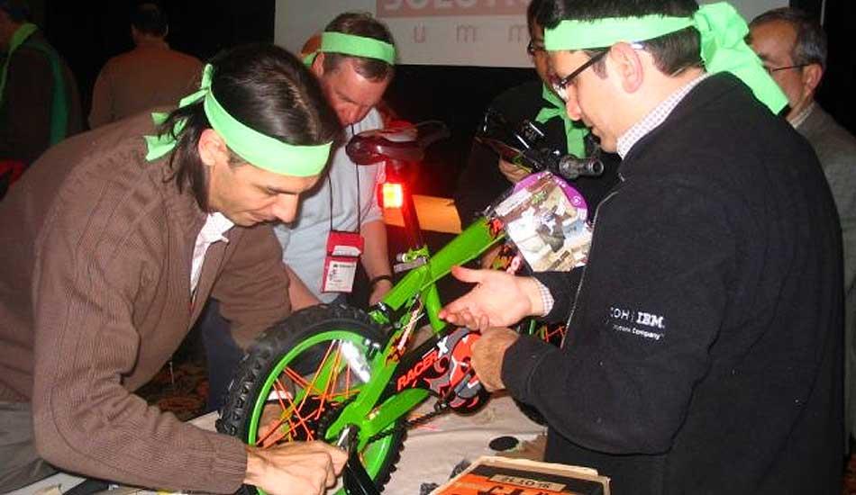 Team Building a Bike Event